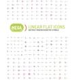 Thin line abstract logo mega collection vector image vector image
