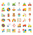 toy for children and baby icon set vector image vector image