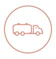 Truck liquid cargo line icon vector image vector image