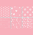 valentine heart seamless pattern on pink vector image vector image