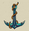 vintage colorful metal anchor vector image vector image