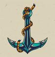 vintage colorful metal anchor vector image