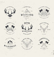 wildlife hunters logo set vector image