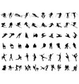 winter sport silhouettes vector image vector image