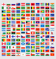 world flags collection laws name independent vector image