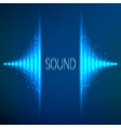 Blue neon stereo equalizer vector image