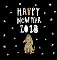 happy new year greeting card invitation with vector image