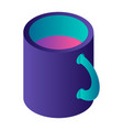 abstract color cup icon isometric style vector image