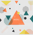 abstract geometric colorful style background vector image