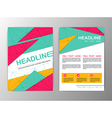 Abstract Triangle design Brochure Flyer template vector image vector image