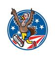 American Turkey Run Runner Cartoon vector image vector image