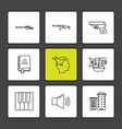 army armour tanks guns wars eps icons set vector image