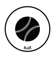 Baseball ball icon vector image vector image