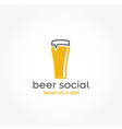 beer glass pub design template vector image vector image