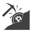 bitcoin mining vector image