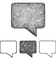 Bubble icon set - sketch line art vector image vector image