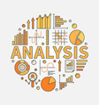 business analysis vector image vector image