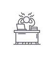 business stress line icon concept business stress vector image vector image
