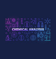chemical analysis colorful outline