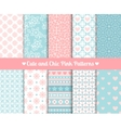 Chic Pink and blue Patterns vector image vector image