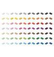 children brick toy simple colorful bricks 2x1 low vector image