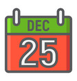 christmas calendar filled outline icon christmas vector image vector image