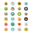 Christmas Flat Icons 1 vector image vector image