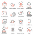 Cloud computing service icons -1 vector image