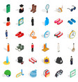 crown icons set isometric style vector image vector image