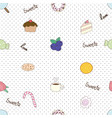 cute sweet dessert seamless pattern vector image