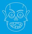 dead icon outline style vector image vector image