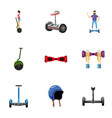 different electric scooter icons set vector image
