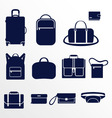 Different types of men bags vector image