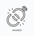divorce flat line icon outline vector image vector image