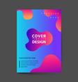 dynamic colorful poster set with fluid shapes vector image vector image