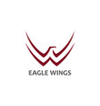 eagle symbol with stylized wings icon vector image vector image