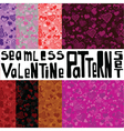 Eight seamless patterns with ornament with hearts vector image vector image