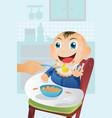 feeding baby time vector image