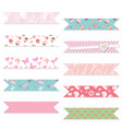 festive textile ribbons set isolated on white vector image vector image