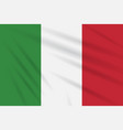 flag italy swaying in wind realistic vector image