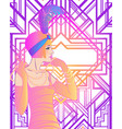 flapper girl art deco 1920s style vintage vector image vector image