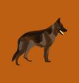 flat shading style icon german shepherd vector image vector image