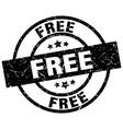free round grunge black stamp vector image vector image