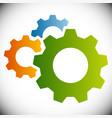 gears gear wheels cog wheels on white vector image