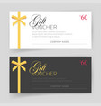 gift card or voucher template design vector image