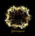 gold sparkles on black background vector image