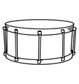 hand drawn snare drum doodle isolated on white vector image