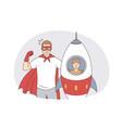happy fatherhood and childhood concept vector image