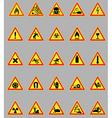 hazard lights vector image vector image