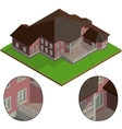 isometric villa vector image vector image
